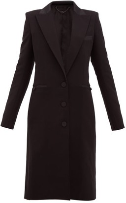 Paco Rabanne Single-breasted Wool-blend Coat - Womens - Black