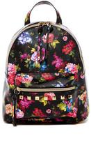 T-Shirt & Jeans Studded Floral Print Backpack