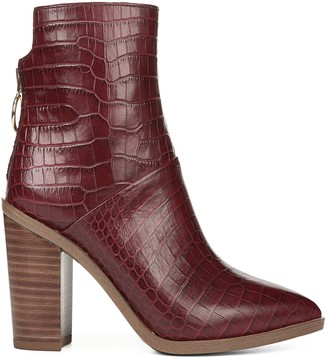 Franco Sarto Leather Western Ankle Boots - Mack