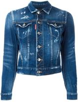 DSQUARED2 cropped distressed jean jacket