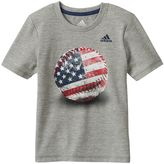 adidas Boys 4-7x Baseball Graphic Tee