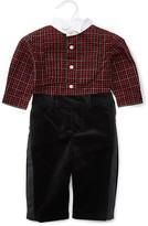 Ralph Lauren Infant Boys' Plaid Tuxedo Shirt & Velvet Pants Set - Sizes 3-12 Months