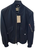 Burberry Navy Leather Jackets