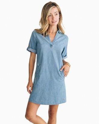 Southern Tide Candice Chambray Shirt Dress