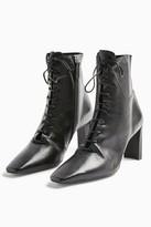 Topshop MATILDA Black Lace Up Boots