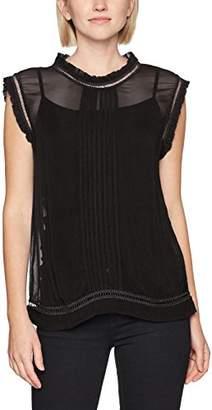 Sisley Women's Sleevless Blouse with Round Neck,Medium