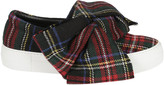 Joshua Sanders Tartan Bow Slip-On Sneakers