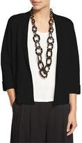Eileen Fisher Silk Organic Cotton Interlock Boxy Jacket, Petite