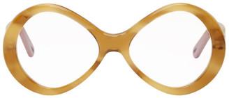 Chloé Tortoiseshell Retro Oval Glasses