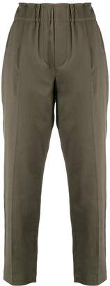 Brunello Cucinelli cropped high waisted trousers