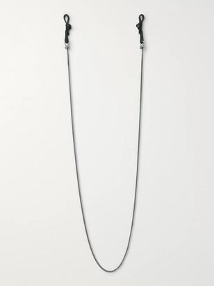 Miansai Nexus Gunmetal-Tone And Leather Glasses Cord
