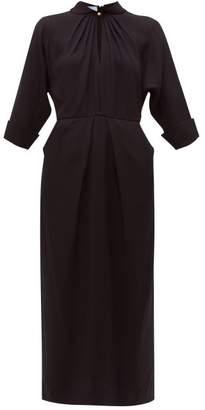 Prada Sable Midi Shift Dress - Womens - Black