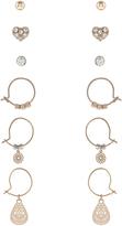 Accessorize 6x Mini Stud & Hoop Earrings Pack
