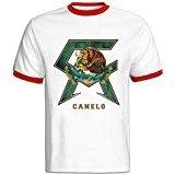 TIKE Fashions TIKE Men's Canelo Alvarez Boxer UFC Logo Short Sleeve Ringer Tshirt Color Size M