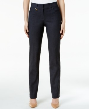 JM Collection Slim-Fit Tummy-Control Pants, Created for Macy's