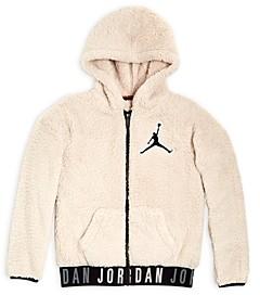 Jordan Boys' Jumpman Sherpa Fleece Zip Hoodie - Big Kid