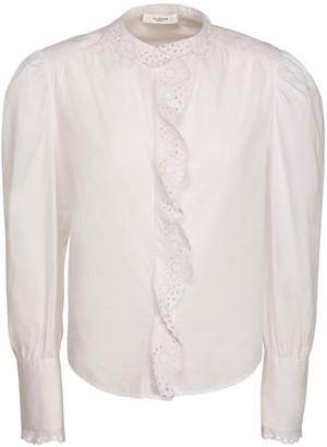 Etoile Isabel Marant Orlana Lace Cotton Poplin Shirt
