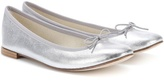 Repetto Cendrillon silver leather ballerinas
