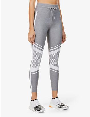 Lorna Jane Uplift mesh-panel high-rise stretch-jersey leggings