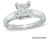 Zales Celebration Grand® 1 CT. Princess-Cut Diamond Solitaire Engagement Ring in 14K White Gold (I-J/I1)
