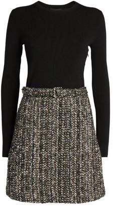 Theory Tweed-Detail Dress