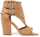 Laurence Dacade Deric Embellished Leather Sandals - Beige