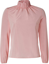 J.W.Anderson Taffeta Ruched Neck Top in Baby Pink