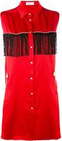 Gaelle Bonheur - fringed sleeveless shirt - women - Polyester - 40
