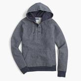 J.Crew Fleece henley hoodie