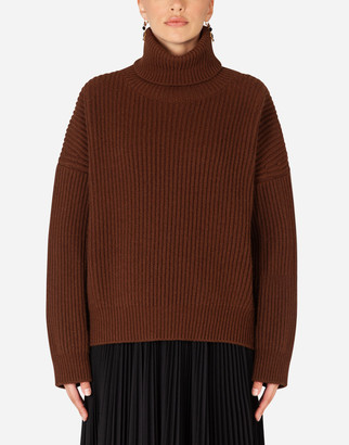 Dolce & Gabbana Ribbed Cashmere Turtle-Neck Sweater