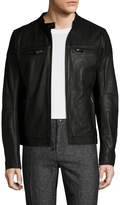 Rogue Men's Leather Ribbed Panel Jacket