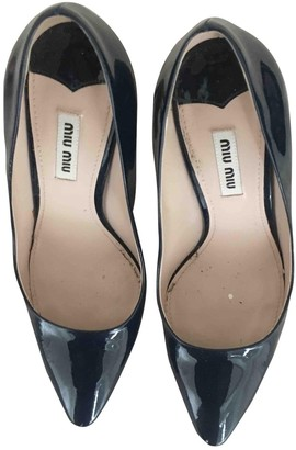 Miu Miu \N Navy Patent leather Heels