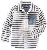 Osh Kosh Toddler Boys Striped Button-Front Shirt