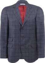 Brunello Cucinelli Windowpane Notch Lapel Jacket