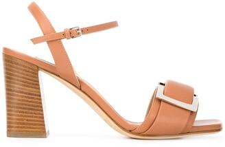 Sergio Rossi 90mm square toe sandals