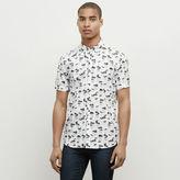 Kenneth Cole New York Short-Sleeve Palm Tree Print Shirt