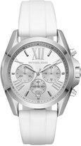 Michael Kors Women's Chronograph Bradshaw White Silicone Strap Watch 43mm MK2651