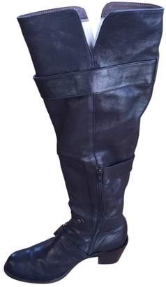 Pura Lopez Black Leather Boots