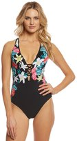 Seafolly Island Vibe Black Crochet Back One Piece Swimsuit 8158460