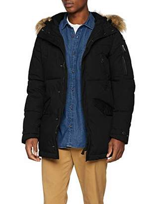 Schott NYC Men's LINCOLN18X Jacket, (Black Blue), (Size: M)