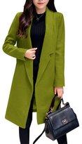 Fanvans Women's Long Loose Large Size Wool-outerwear-coats M