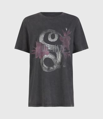 AllSaints Reptose Boyfriend T-Shirt