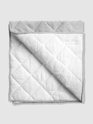 Louelle Reversible Husk Grey + White Play Mat / Quilt
