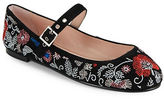 Avec Les Filles Renee Embroidered Mary Jane Flats
