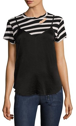 RtA Demi Striped Tee Silk Slip