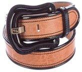 Fendi Leather Buckle Belt