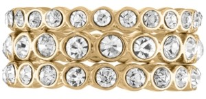 Rachel Roy Gold-Tone 3-Pc. Set Pave Stack Rings