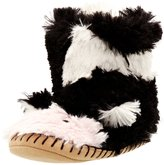 Hatley Girls Slouch-Slipper-Cow Children's Lined Novelty Slippers Black