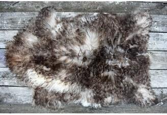 "Burnell Animal Print Handmade 2'2"" x 3'3"" Sheepskin Brown Indoor / Outdoor Area Rug Millwood Pines"