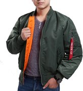 Seibertron Men's MA-1 Bomber Flight Waterproof/Water Repellent Jacket (XS, )